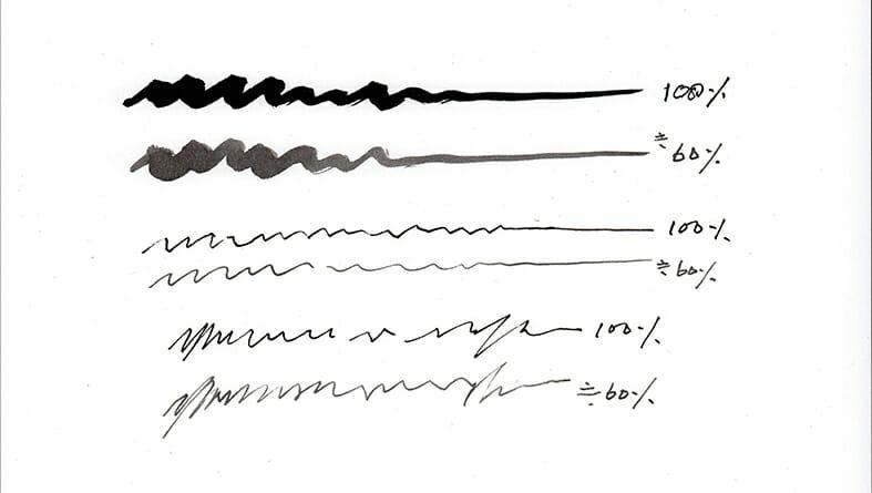 水彩画の線
